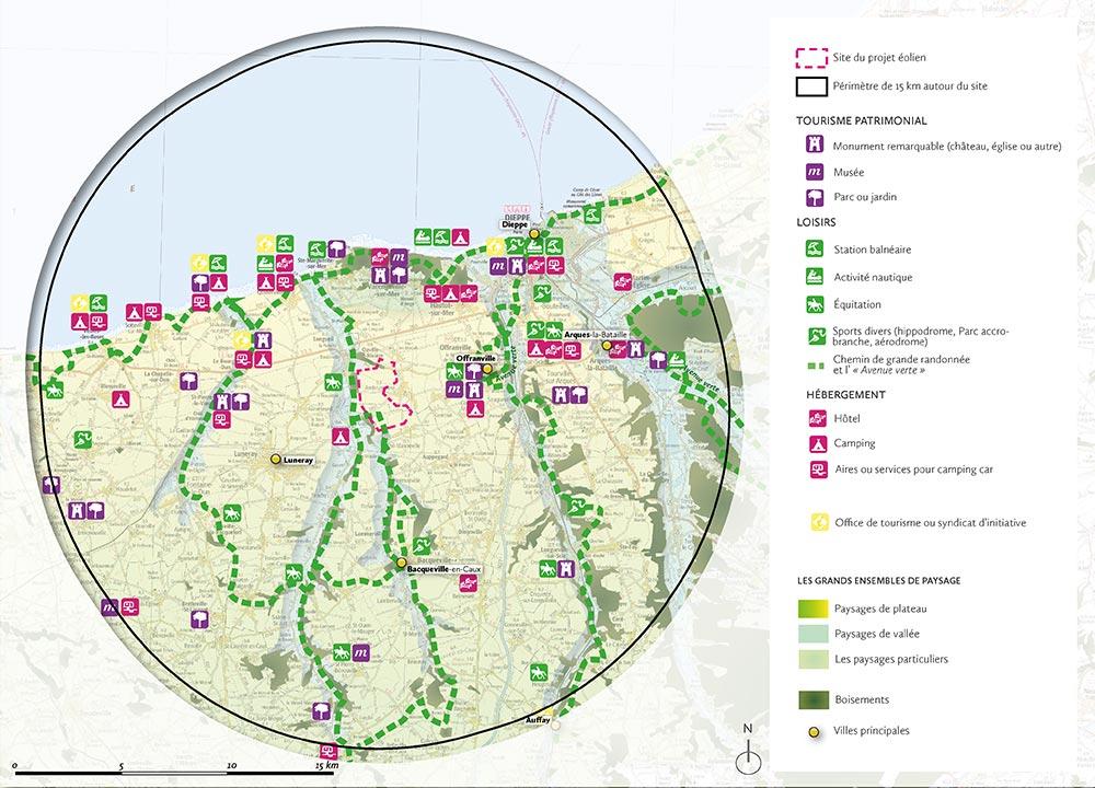 Cartographie des activités de tourisme et de loisirs